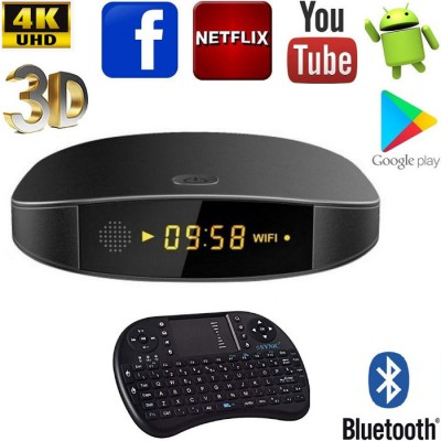 SMART TV BOX ANDROID 7.1 ANDOWL Q9 PRO 4K CON 4GB RAM, 32GB ROM IPTV + TASTIERA WIRELESS BLISTER