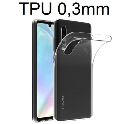 CUSTODIA per HUAWEI P30 IN GEL TPU SILICONE ULTRA SLIM 0,3mm TRASPARENTE