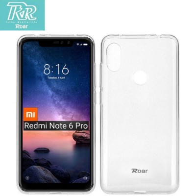 CUSTODIA per XIAOMI REDMI NOTE 6 PRO IN GEL TPU SILICONE TRASPARENTE ALTA QUALITA' ROAR COLORFUL