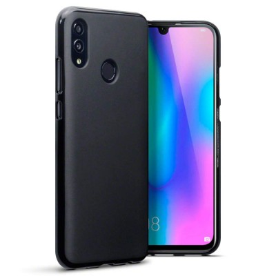 CUSTODIA per HUAWEI P SMART 2019, HONOR 10 LITE  IN GEL TPU SILICONE COLORE NERO