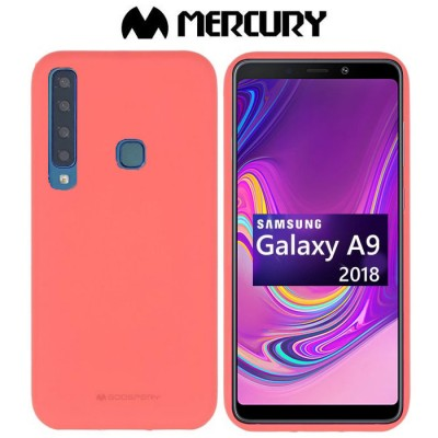 CUSTODIA per SAMSUNG GALAXY A9 2018 (SM-A920) IN GEL TPU SILICONE COLORE ROSA ALTA QUALITA' MERCURY SOFT BLISTER