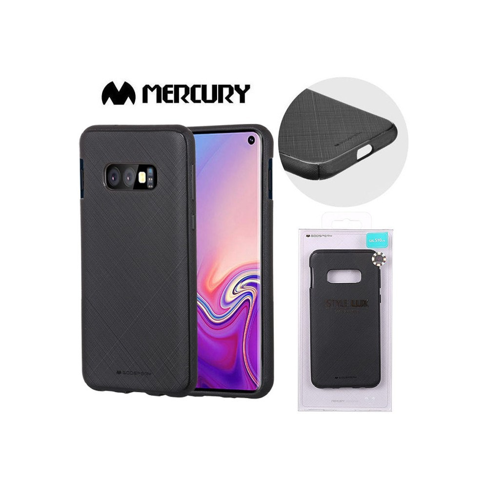 CUSTODIA per SAMSUNG GALAXY S10e (SM-G970) IN GEL TPU SILICONE COLORE NERO ALTA QUALITA' MERCURY STYLE LUX BLISTER