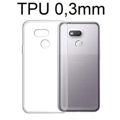 CUSTODIA per HTC DESIRE 12s IN GEL TPU SILICONE ULTRA SLIM 0,3mm TRASPARENTE