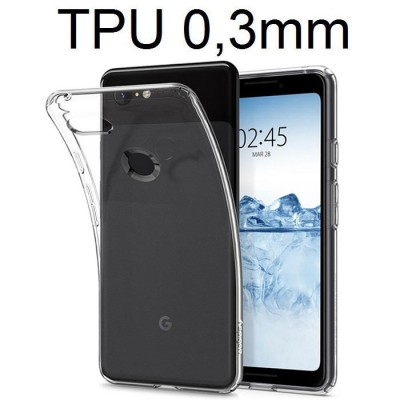 CUSTODIA per GOOGLE PIXEL 3 IN GEL TPU SILICONE ULTRA SLIM 0,3mm TRASPARENTE