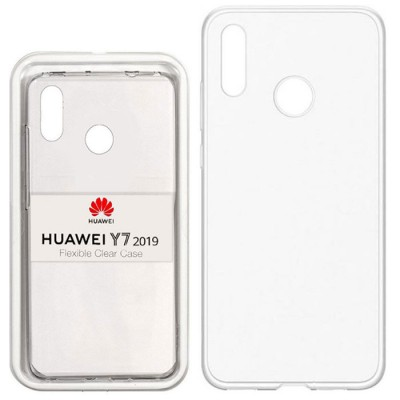 CUSTODIA ORIGINALE per HUAWEI HUAWEI Y7 2019 - FLEXIBLE CLEAR CASE IN GEL TPU SILICONE TRASPARENTE BLISTER