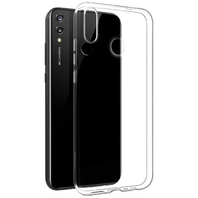 CUSTODIA per HUAWEI Y9 2019, ENJOY 9 PLUS IN GEL TPU SILICONE TRASPARENTE