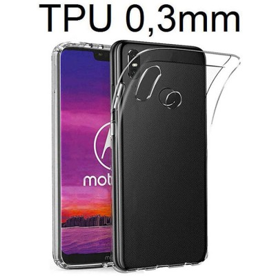 CUSTODIA per MOTOROLA ONE, P30 PLAY - IN GEL TPU SILICONE ULTRA SLIM 0,3mm TRASPARENTE