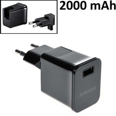 TRAVEL CASA USB 2000 mAh ORIGINALE per SAMSUNG S10, S10e, S10 PLUS, M10 - 2000 mAh COLORE NERO BULK SEGUE COMPATIBILITA'..