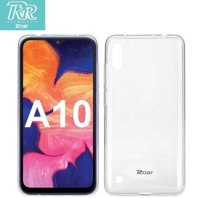 CUSTODIA per SAMSUNG GALAXY A10 (SM-A105) IN GEL TPU SILICONE TRASPARENTE ALTA QUALITA' ROAR COLORFUL BLISTER