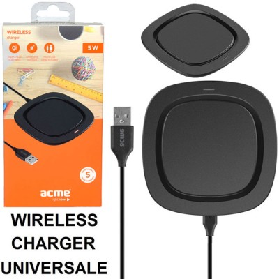 TRAVEL CASA WIRELESS COMPATIBILE CON TUTTI I DISPOSITIVI DOTATI DI TECNOLOGIA QI CON INDICATORE LED COLORE NERO ACME BLISTER