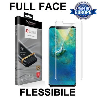 PELLICOLA per HUAWEI MATE 20 PRO FULL FACE 3D EXPERT FLESSIBILE 3H 0,2 mm MYSCREEN BLISTER