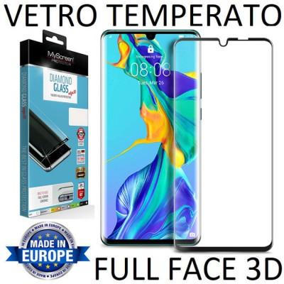 PELLICOLA per HUAWEI P30 PRO IN VETRO TEMPERATO FULL FACE 3D 9H 0,33mm CON CORNICE COLORE NERO MYSCREEN BLISTER