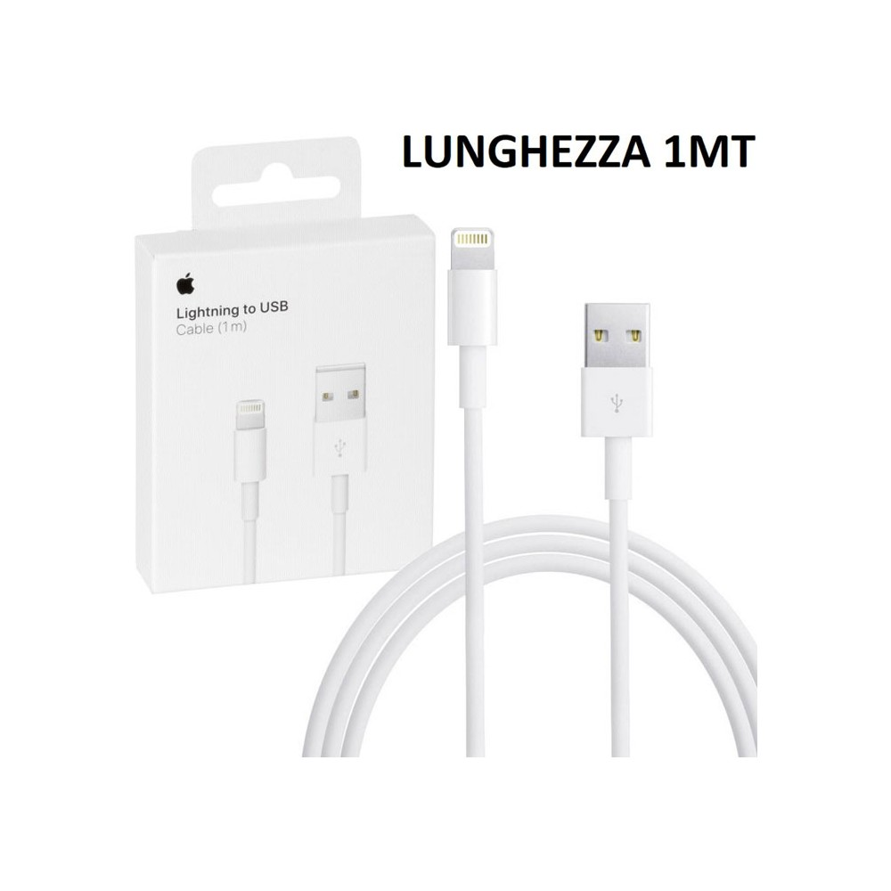 CAVO USB ORIGINALE APPLE MQUE2ZM/A LIGHTNING per IPHONE XS, IPHONE XR COLORE BIANCO BLISTER SEGUE COMPATIBILITA'..
