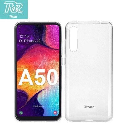 CUSTODIA per SAMSUNG GALAXY A50 (SM-A505) IN GEL TPU SILICONE TRASPARENTE ALTA QUALITA' ROAR COLORFUL BLISTER