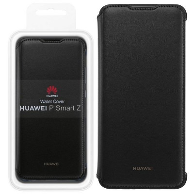 CUSTODIA ORIGINALE per HUAWEI P SMART Z - WALLET COVER FLIP ORIZZONTALE PELLE COLORE NERO 51993127 BLISTER