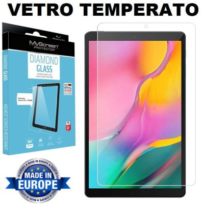 PELLICOLA per SAMSUNG GALAXY TAB A (2019, 10.1') SM-T510, SM-T515 - PROTEGGI DISPLAY IN VETRO TEMPERATO 9H 0,33mm MYSCREEN