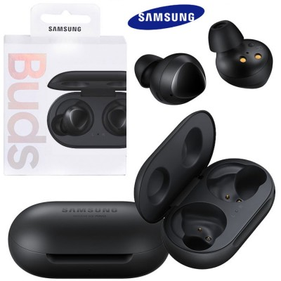 AURICOLARI WIRELESS ORIGINALI SAMSUNG GALAXY BUDS SM-R170NZKAROM PER DISPOSITIVI CON TECNOLOGIA BLUETOOTH NERO BLISTER