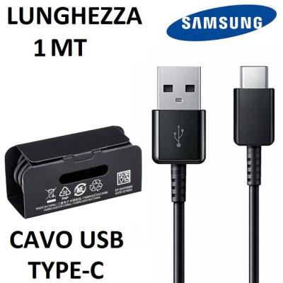 CAVO TYPE-C 3.1 A USB ORIGINALE SAMSUNG EP-DG970BBE per (SM-G973) GALAXY S10, (SM-G975) GALAXY S10 PLUS LUNGHEZZA 1MT NERO BULK