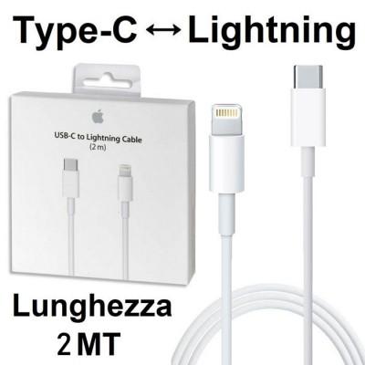 CAVO USB ORIGINALE APPLE A1702 LIGHTNING A TYPE-C per IPHONE XS MAX, IPHONE XR, IMAC PRO COLORE BIANCO BLISTER SEGUE COMPATIBILI