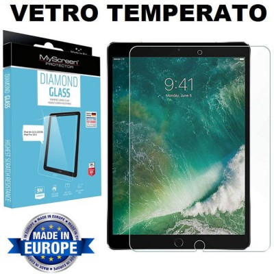 PELLICOLA per APPLE IPAD PRO (10.5') 2017, IPAD AIR (10.5') 2019 - PROTEGGI DISPLAY IN VETRO TEMPERATO 9H 0,33mm MYSCREEN