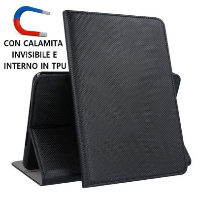 CUSTODIA per APPLE IPAD MINI 2019 (7.9') - FLIP ORIZZONTALE CON CHIUSURA MAGNETICA INVISIBILE E INTERNO IN TPU COLORE NERO