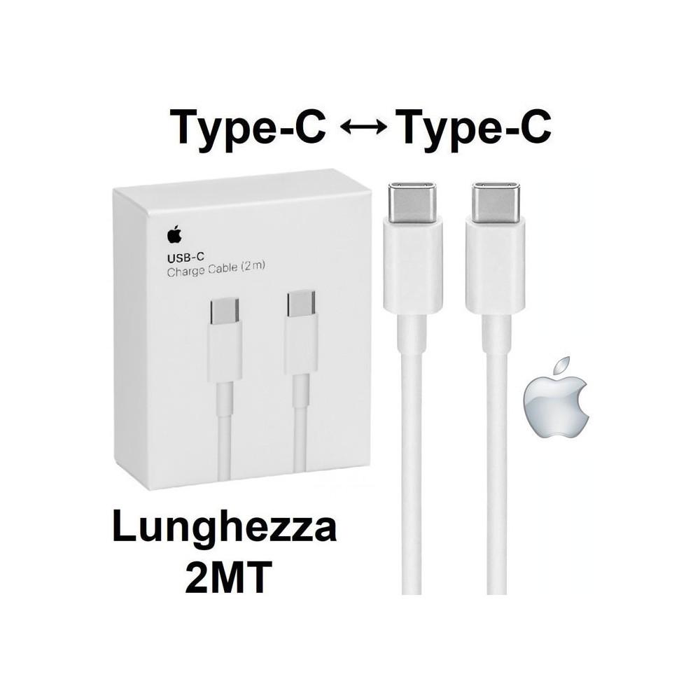 CAVO USB ORIGINALE APPLE A1739 TYPE-C A TYPE-C per IPAD PRO 12.9', MACBOOK PRO 13' - LUNGHEZZA 2 MT COLORE BIANCO BLISTER
