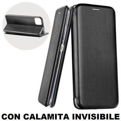 CUSTODIA per APPLE IPHONE 11 (6.1') - FLIP ORIZZONTALE SIMILPELLE CON CHIUSURA MAGNETICA INVISIBILE E INTERNO IN TPU NERO
