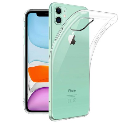 CUSTODIA per APPLE IPHONE 11 (6.1') IN GEL TPU SILICONE TRASPARENTE