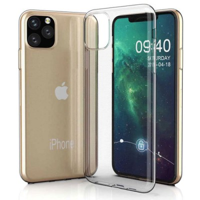 CUSTODIA per APPLE IPHONE 11 PRO (5.8') IN GEL TPU SILICONE TRASPARENTE
