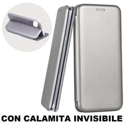 CUSTODIA per APPLE IPHONE 11 PRO MAX (6.5') - FLIP ORIZZONTALE SIMILPELLE CON CHIUSURA MAGNETICA INVISIBILE E INTERNO IN TPU GRI