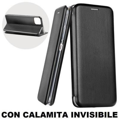 CUSTODIA per APPLE IPHONE 11 PRO MAX (6.5') - FLIP ORIZZONTALE SIMILPELLE CON CHIUSURA MAGNETICA INVISIBILE E INTERNO IN TPU NER