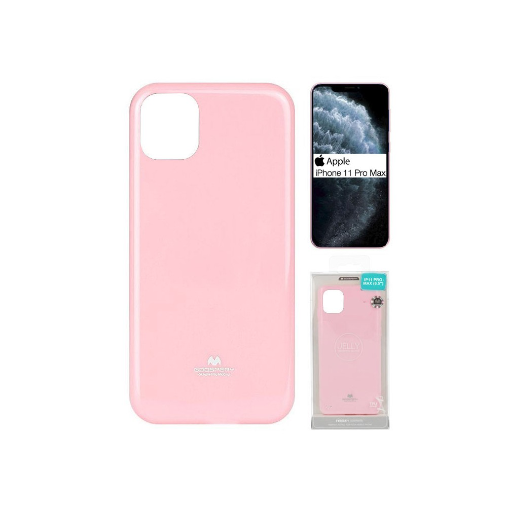 Custodia flip cover Iphone 11 Pro Max rosa a libro effetto