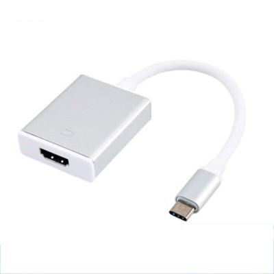 ADATTATORE AUDIO/VIDEO DA USB TYPE-C 3.1 AD HDMI FEMMINA CON RISOLUZIONE FULL HD 1920x1080 60P BIANCO E SILVER - ATTENZIONE..