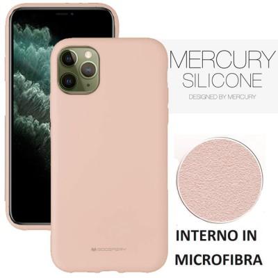 CUSTODIA per APPLE IPHONE 11 PRO MAX (6.5') IN SILICONE CON INTERNO IN MICROFIBRA COLORE SABBIA ALTA QUALITA' MERCURY BLISTER