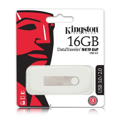PEN DRIVE 16GB USB 3.0 DATA TRAVELER SE9 G2 DTSE9G2/16GB CON CORPO IN METALLO KINGSTON BLISTER