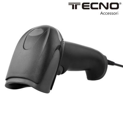 PISTOLA BARCODE LASER SCANNER CON CONNESSIONE USB ED EMULATORE DI TASTIERA COLORE NERO BC-6001 TECNO