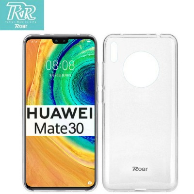 CUSTODIA per HUAWEI MATE 30, MATE 30 (5G) IN GEL TPU SILICONE TRASPARENTE ALTA QUALITA' ROAR COLORFUL