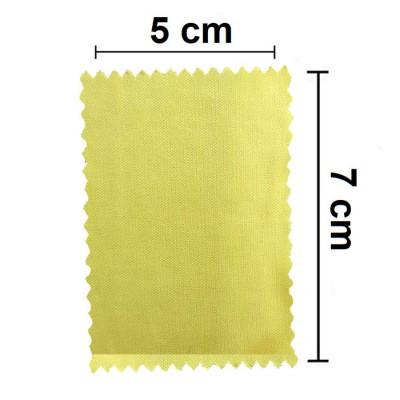 PANNETTO PULISCI DISPLAY per SMARTPHONE E TABLET IN MICROFIBRA MISURE 5 X 7CM COLORE GIALLO