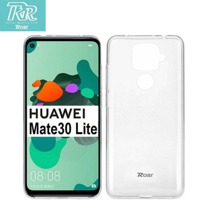 CUSTODIA per HUAWEI MATE 30 LITE IN GEL TPU SILICONE TRASPARENTE ALTA QUALITA' ROAR COLORFUL BLISTER