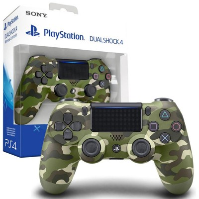 JOYSTICK WIRELESS DUAL SHOCK ORIGINALE CUH-ZCT2E per SONY PLAYSTATION 4 VERSIONE V.2 FANTASIA CAMO COLORE VERDE BLISTER