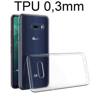CUSTODIA per LG G8X ThinQ, V50S ThinQ 5G - IN GEL TPU SILICONE ULTRA SLIM TRASPARENTE 0,3mm