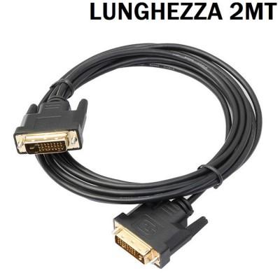 CAVO DVI-D (24+1 pin) MASCHIO A DVI-D (24+1 pin) MASCHIO DUAL LINK LP22037 LUNGHEZZA 2 MT COLORE NERO LINK