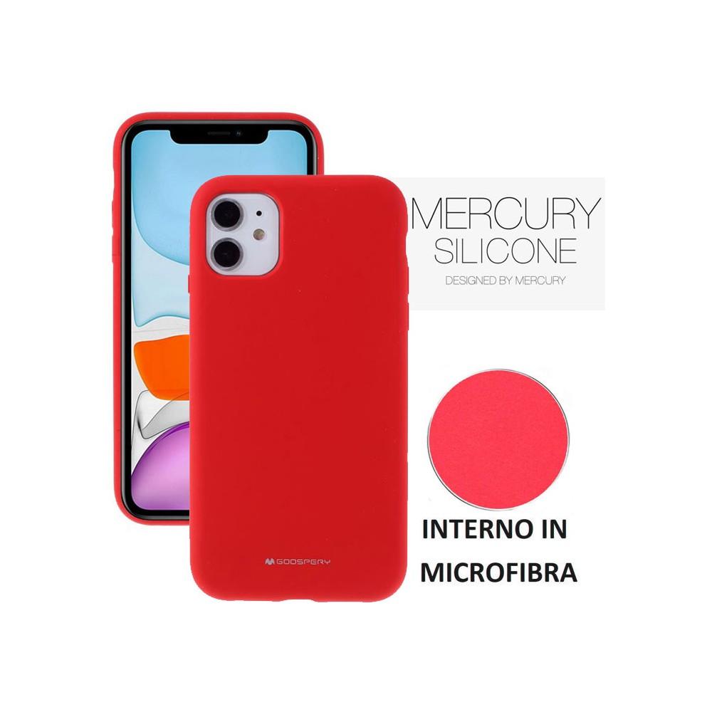 Custodia in silicone semi-rigido color Rosso per Apple iPhone 7