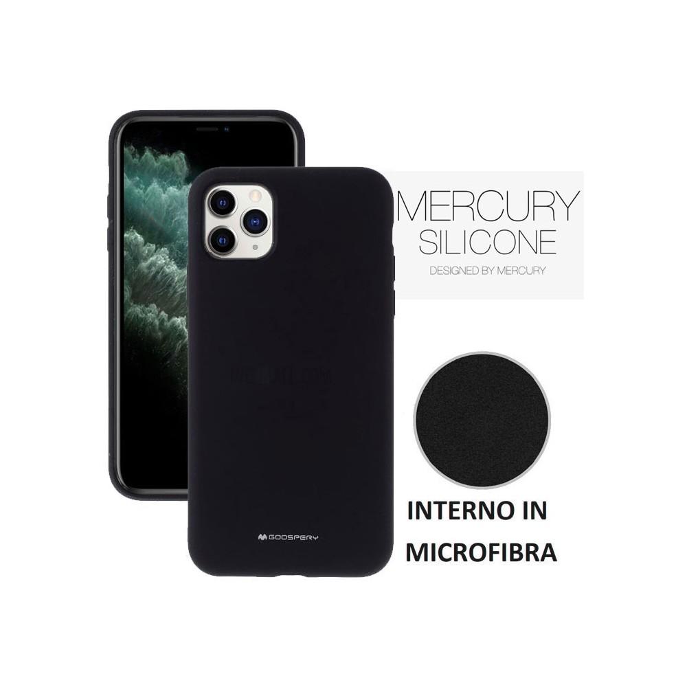 Custodia in Silicone + Microfibra per iPhone 11 Pro Max (6.5