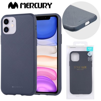 CUSTODIA per APPLE IPHONE 11 (6.1') IN GEL TPU SILICONE COLORE BLU ALTA QUALITA' MERCURY STYLE LUX BLISTER