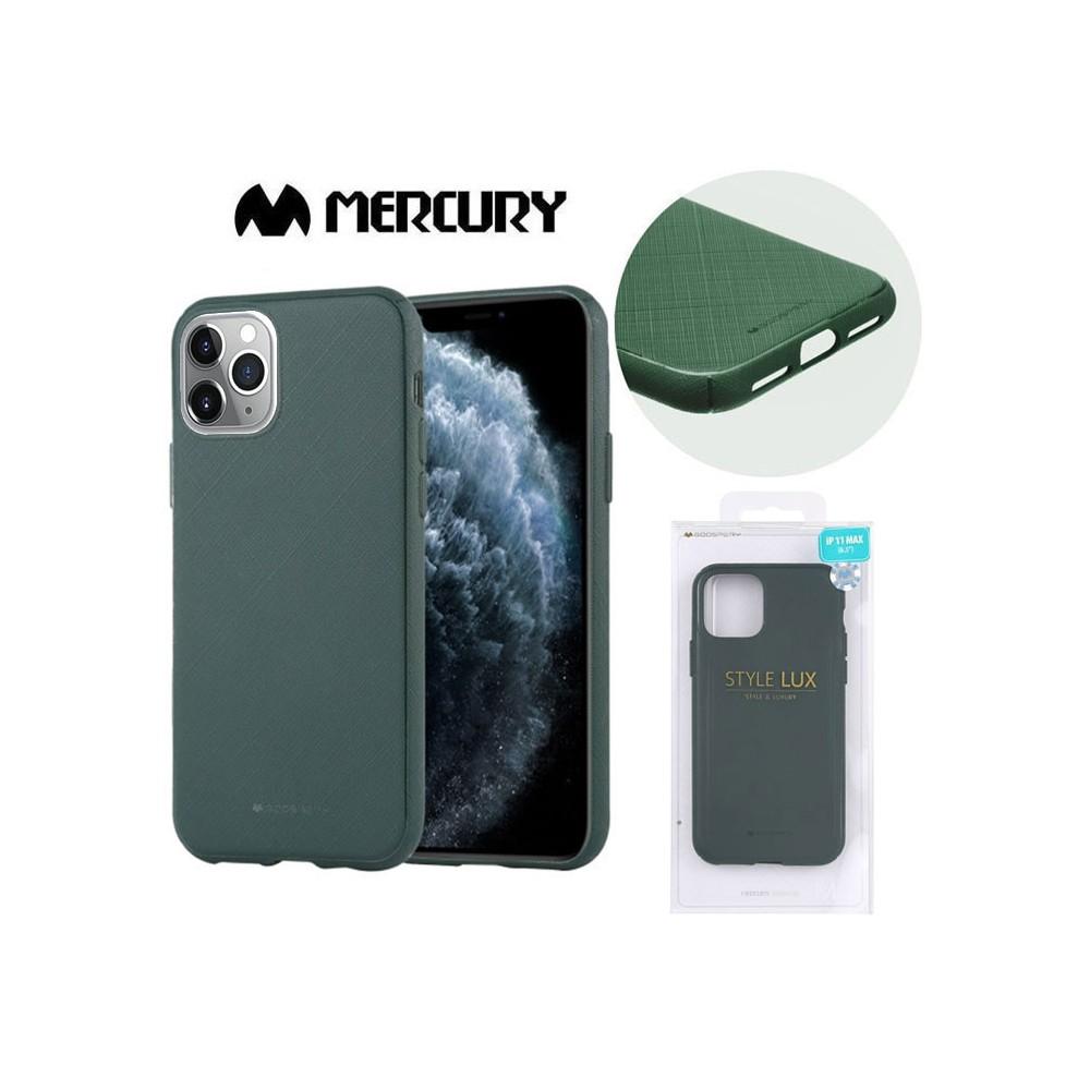 CUSTODIA per APPLE IPHONE 11 PRO MAX (6.5') IN GEL TPU SILICONE COLORE VERDE ALTA QUALITA' MERCURY STYLE LUX BLISTER