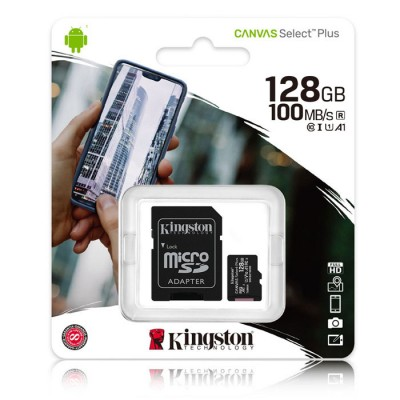 MEMORY CARD MICRO SDXC U1 A1 128GB + ADATTATORE CLASSE 10 VELOCITA' IN LETTURA FINO A 100MB/s FULL HD SDCS2/16GB KINGSTON