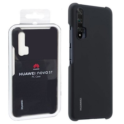 CUSTODIA ORIGINALE 51993761 HUAWEI per NOVA 5T - BACK PC CASE POSTERIORE RIGIDA COLORE NERO BLISTER