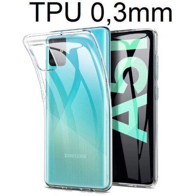 CUSTODIA per SAMSUNG GALAXY A51 (SM-A515) - IN GEL TPU SILICONE ULTRA SLIM 0,3mm TRASPARENTE
