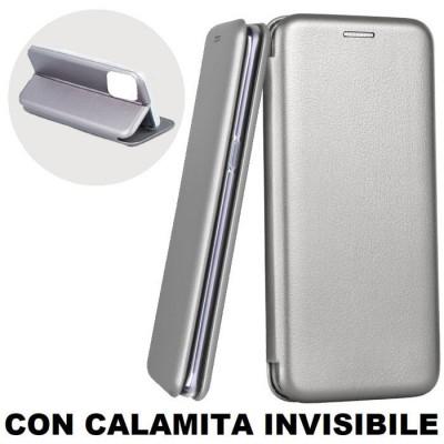 CUSTODIA per SAMSUNG GALAXY A71 (SM-A715) - FLIP ORIZZONTALE SIMILPELLE - CHIUSURA INVISIBILE COLORE GRIGIO